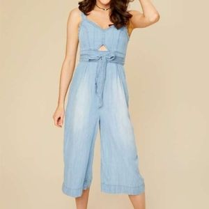 Faded jump suit